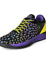 Men's Athletic Shoes Spring / Fall / Winter Comfort PU Athletic Flat Heel Lace-up Purple / Black and Red Running / Basketball