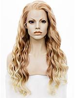 imstyle 24''popular блондинка волны 150% -180% высокой плотности синтетические кружева парики фронта термостойкими