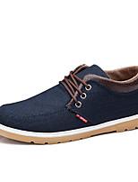 Черный / Синий-Мужской-Для занятий спортом / На каждый день-Полотно-На плоской подошве-Удобная обувь-Кеды