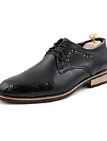 Men's Oxfords Spring / Fall Comfort Leatherette Casual Flat Heel Lace-up Black / Red / White Others