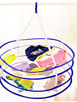 Double-Deck Folding Drying Laundry Basket(Random Colour)