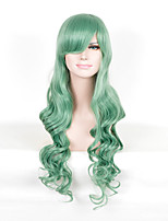 Beautiful Heat Resistant Synthetic Wig Wavy Green Cosplay Wigs Party Wigs