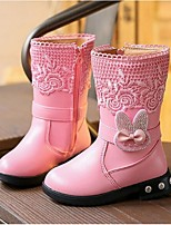 Girl's Boots Comfort Leatherette Casual Black Pink Red