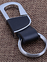 Car Key Chain Creative Men And Women Waist Linked To The Key Ring Metal Leather Key Chain
