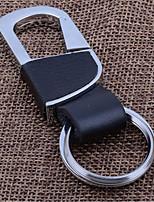 ключевой цепи автомобиля творческий мужчины и женщины талии связаны с кольцом для ключей металлической цепью кожа ключ