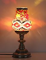 BOXIMIYA Mediterranean/Jane European Study Bedroom Lamp Broken Glass Craftwork Lamp