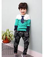 Ensemble de Vêtements Boy Couleur Pleine Décontracté / Quotidien Coton Printemps / Automne Vert / Jaune