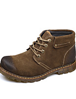 Men's Boots Fall Winter Other Suede Outdoor Casual Flat Heel Lace-up Studded Coffee Khaki Walking Other