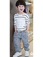 Boy's Casual/Daily Striped PantsCotton Fall Gray