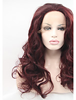 Sylvia Synthetic Lace front Wig Dark Auburn Heat Resistant Long Curly Synthetic Wigs