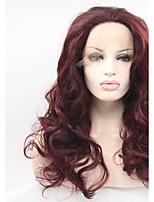 Sylvia синтетический парик фронта шнурка темно-каштановый жаропрочные длинные вьющиеся синтетические парики