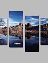 Холст Set Пейзаж Modern,4 панели Холст Любая форма Печать Искусство Декор стены For Украшение дома
