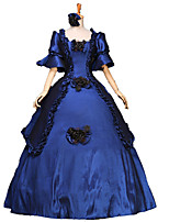 One-Piece/Dress Gothic Lolita / Sweet Lolita / Classic/Traditional Lolita / Punk Lolita Steampunk® Cosplay Lolita Dress Ink Blue Floral