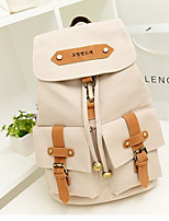 Casual Backpack Women Canvas White Blue Black