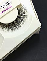 Full Strip Lashes Eyes Thick Handmade mink hair eyelash Black Band 0.10mm 12mm LD208