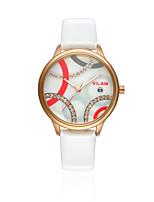 VILAM® Women's Fashion Dress Watch Imitation Diamond Wrist watch Quartz Water Resistant/Water Proof Leather Band Casual Dress Watch