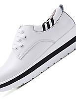 נשים-נעלי אוקספורד-עור-פלטפורמה-שחור לבן-שטח משרד ועבודה יומיומי-עקב וודג' מטפסים פלטפורמה