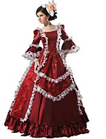 Gothic Lolita / Sweet Lolita / Classic & Traditional Lolita / Punk Lolita One-Piece 3/4-Length Sleeve Long Length Wine Red Lolita Dress