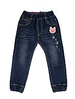 Unisex Casual/Daily / Holiday / School Embroidered Pants-Denim Winter / All Seasons / Fall