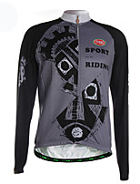 Sports Cycling Jersey Men's Long Sleeve Breathable / Thermal / Warm /Back Pocket / Ultra Light Fabric Bike Jersey