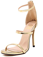 Women's Sandals Open Toe Fleece Platform Shoes Stiletto Hollow-out Heel Buckle with Black/Pink/Blue Colors Rose Gold