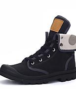 גברים-נעלי ספורט-בד-נוחות-שחור צהוב אפור-יומיומי-עקב שטוח