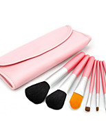 7 Makeup Brushes Set Horse Professional / Portable Wood Face / Eye / Lip