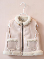 Girl Casual/Daily Solid Vest,Cotton Winter / Fall Sleeveless Regular