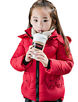 Girl's Casual/Daily Print Down & Cotton PaddedPolyester Winter Black / Green / Pink / Red