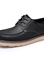 Men's Oxfords Spring / Summer / Fall / Winter Comfort Nappa Leather Outdoor / Casual Flat Heel Black / Brown Sneaker