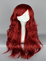 Sexy Lady Wine Red 65cm Long Wavy Curly Lolita Zipper High Grade Cosplay Wig