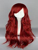 секси леди вино красное 65см длинные волнистые фигурные лолита молния высокий класс косплей парик