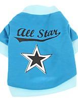 Katzen Hunde T-shirt Hundekleidung Sommer Frühling/Herbst Sterne Lässig/Alltäglich Blau