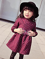 Girl's Going out Polka Dot DressCotton Winter / Spring / Fall Red