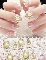 valse nagel product manicure patch bruid nagel parel french manicure tabletten 24 dozen