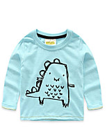 Boy's Casual/Daily Solid TeeCotton Fall Blue