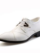 Черный / Коричневый / Белый-Мужской-На каждый день-Кожа-На плоской подошве-Others-Туфли на шнуровке