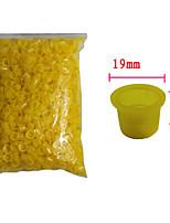 tatouage Solong encre 1000 pcs tatouage tasses bouchons en plastique de grande taille couleur jaune tc101-3