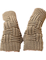 Knitting Wool Gloves (Khaki Chuan Zi Short)
