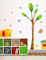 Cartoon Winnie The Pooh Bear Wall Stickers DIY Fashion Children's Bedroom Living Room Wall Decals Removable