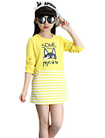 Girl's Casual/Daily Solid TeePolyester Spring / Fall Red / White / Yellow