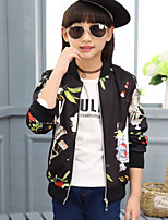 Girl's Casual/Daily Floral Suit & BlazerCotton Fall Black / Beige