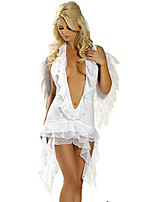 Cosplay Costumes Angel/Devil Halloween White / Black Print Cotton Dress / Wings