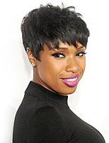 Natural Layered Short Straight Capless Wigs High Quality Human Hair