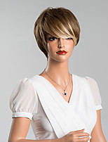 New Arrival Unique Short Straight Capless Wigs High Quality Human Hair Mixed Color 8 Inchs
