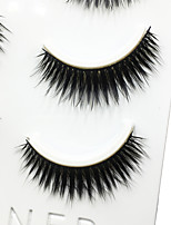 Eyelashes lash Full Strip Lashes Eyes Thick Volumized Handmade Fiber Black Band 0.07mm 12mm