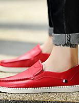 Черный / Коричневый / Красный-Мужской-На каждый день-Микроволокно-На плоской подошве-Удобная обувь-Мокасины и Свитер