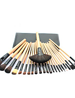 24 Makeup Brushes Set Synthetic Hair Professional / Portable Wood Handle Face/Eye/Lip