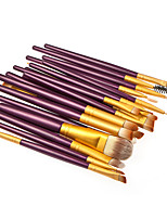 20 Makeup Brushes Set Synthetic Hair Professional / Portable Wood Face / Eye / Lip 2#