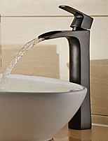 Modern Centerset Waterfall / Widespread / Pre Rinse with  Ceramic Valve Single Handle Two Holes for  Antique